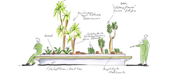 aus dem kopf aufs papier in die realit t r ume gestalten mit pflanzen p2 objekt gr n. Black Bedroom Furniture Sets. Home Design Ideas