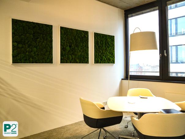 Konferenzraum mit Wandbegrünung, Moosbilder