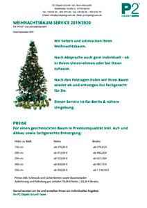 Weihnachtsbaum-Service Berlin Preise 2019