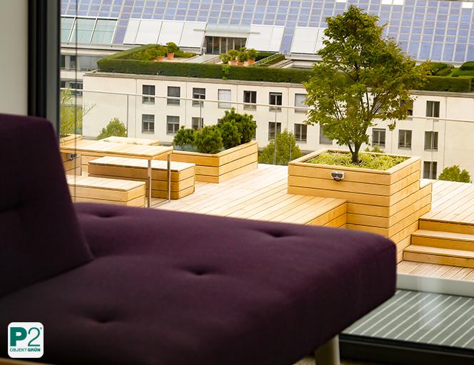 Holzkonstruktion für Terrasse