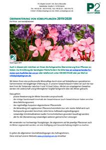 Überwinterung Pflanzen