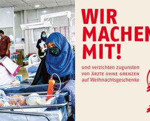 Spende 2020: Wir unterstützen Ärzte ohne Grenzen