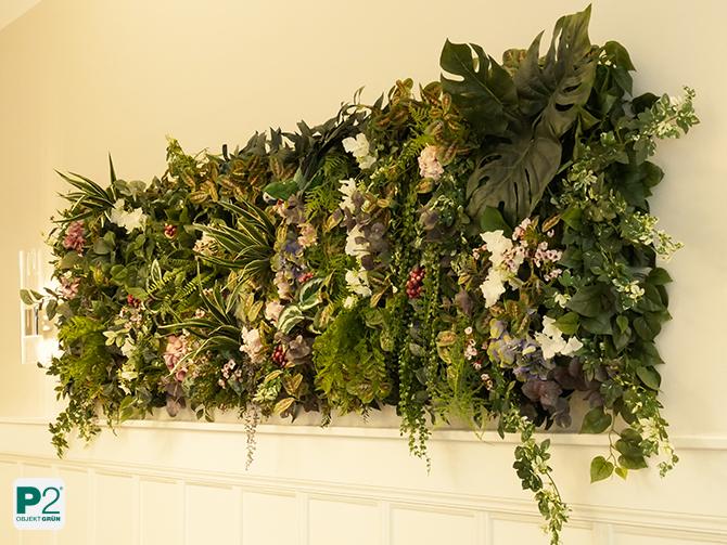 Pflanzenbild an der Wand