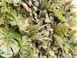 Dschungelbild aus Kunstpflanzen