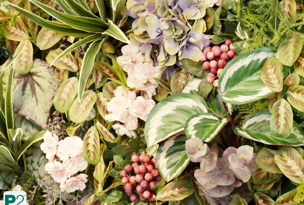 Pflanzenbild Dschungel aus Kunstpflanzen